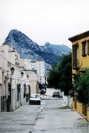 La Linea, Spain (Gibraltar in background)