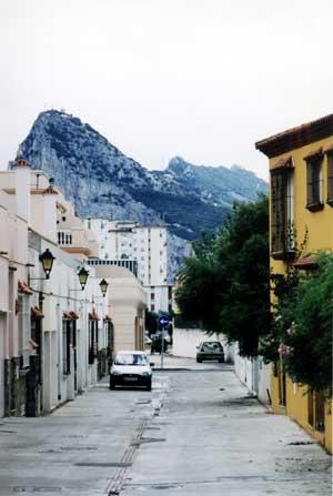 La Linea, Spain (Gibraltar in background)