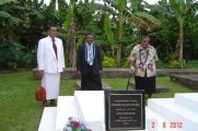 Dad's grave being blessed Samoa 2012
