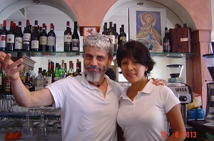 Hosts at Osteria in Perugia