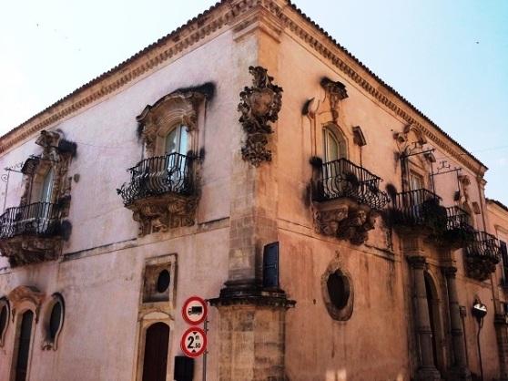Decorative Balconies in Ragusa Ibla Sicilia