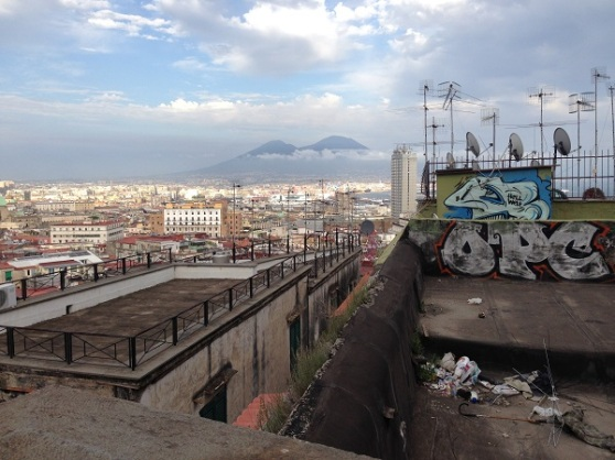Naples Mt Vesuvius in background