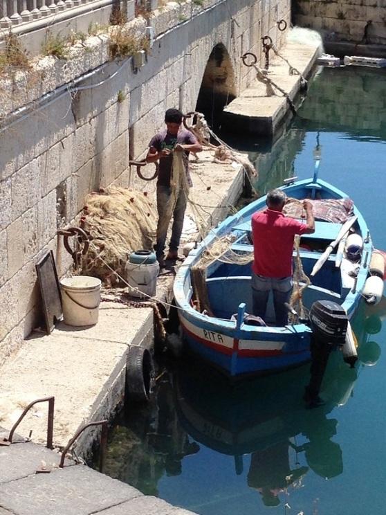 Syracusa Ortygia Fishermen