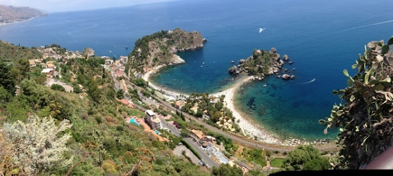 View of Isolabela from the top of Taormina
