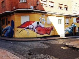 Back streets of Zaragoza - Wall Art Spain