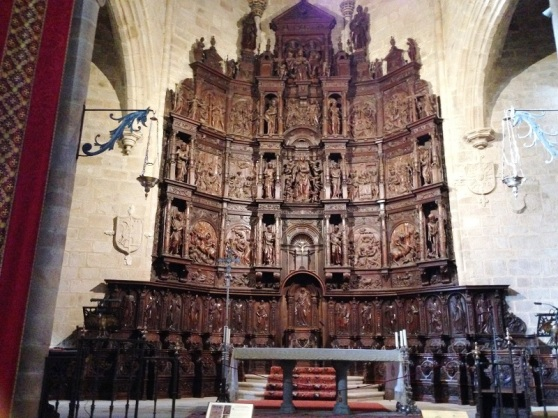 Carved retablo - Caceres Spain