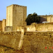 Castle walls of Elvas Portugal