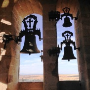Church bells in Caceres Spain