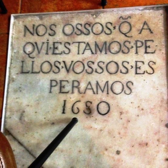 Evora Convent marble signage