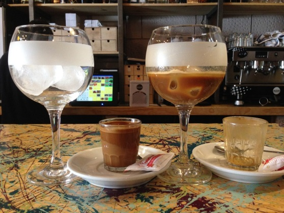 Iced coffee in Seville