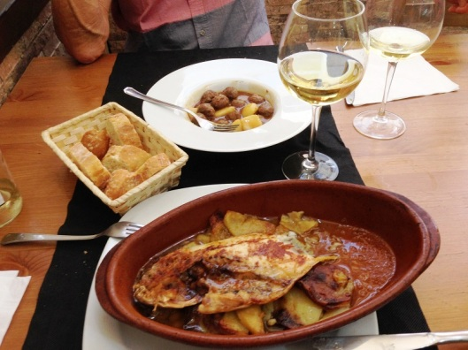 Lunch in Zaragoza Spain