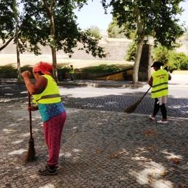 Street Cleaners in Elvas Potugal