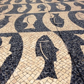 Tile pathway in Faro Portugal