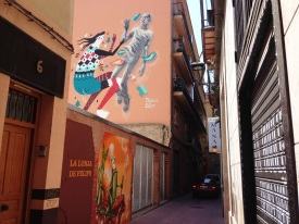 Zaragoza back streets - Wall Art Spain