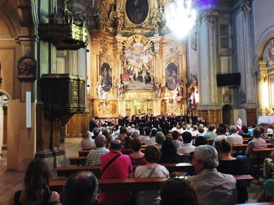 Zaragoza Spain - Church Congregation