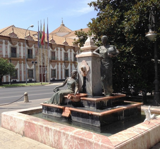 Feature Water Fountain Cordoba Spain