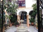Internal Residential Courtyard Cordoba Spain