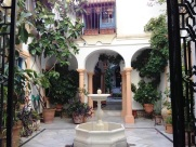 Internal Residential Courtyard Cordoba Spain