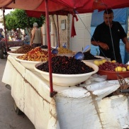 Olive stand in Assilah Morocco