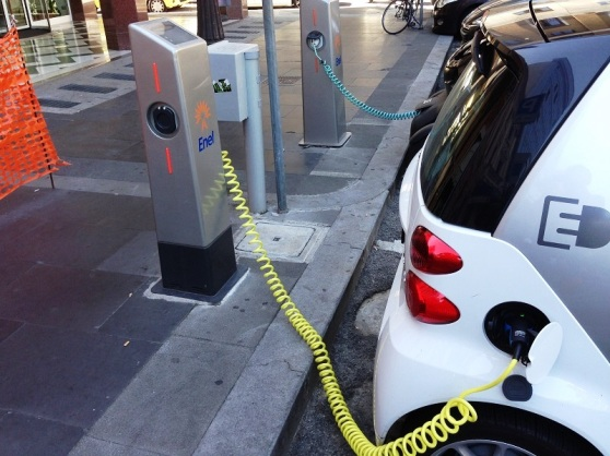 Rome Electric Car Charge Point Italy