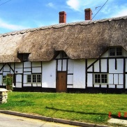 Thatched Roof Housing Preston Bissett UK