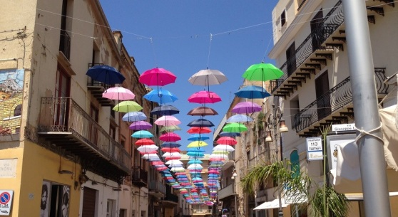 Installation Art Umbrellas - Sciacca