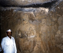 Buddha carving - Elephanta Island India