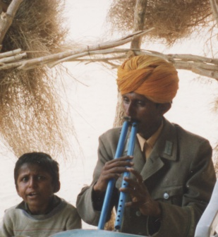 Musicians in Thar Desert - India