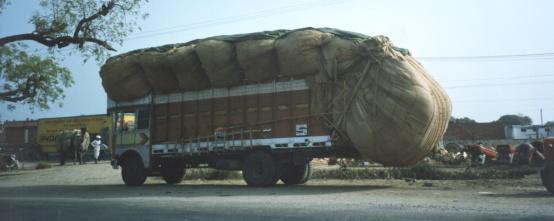 Over laden truck - India