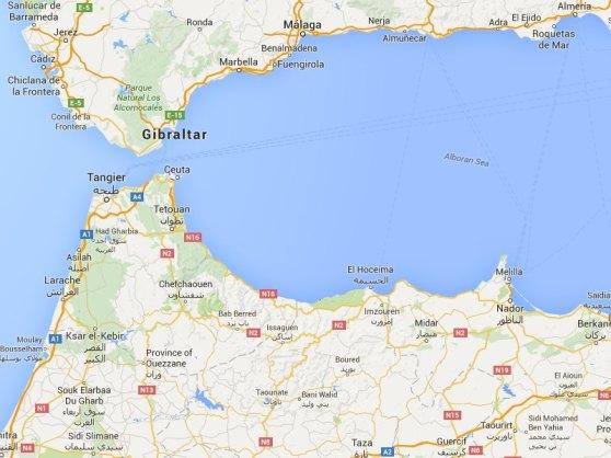 GoogleMap - Straits of Gibraltar