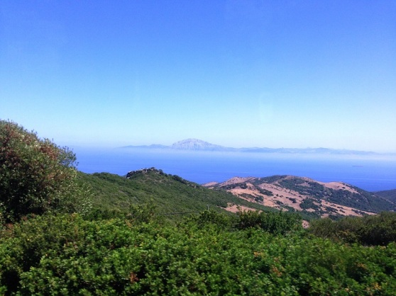 Straits of Gibraltar - Africa viewed from Spain