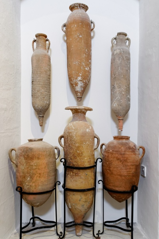 Amphora on display