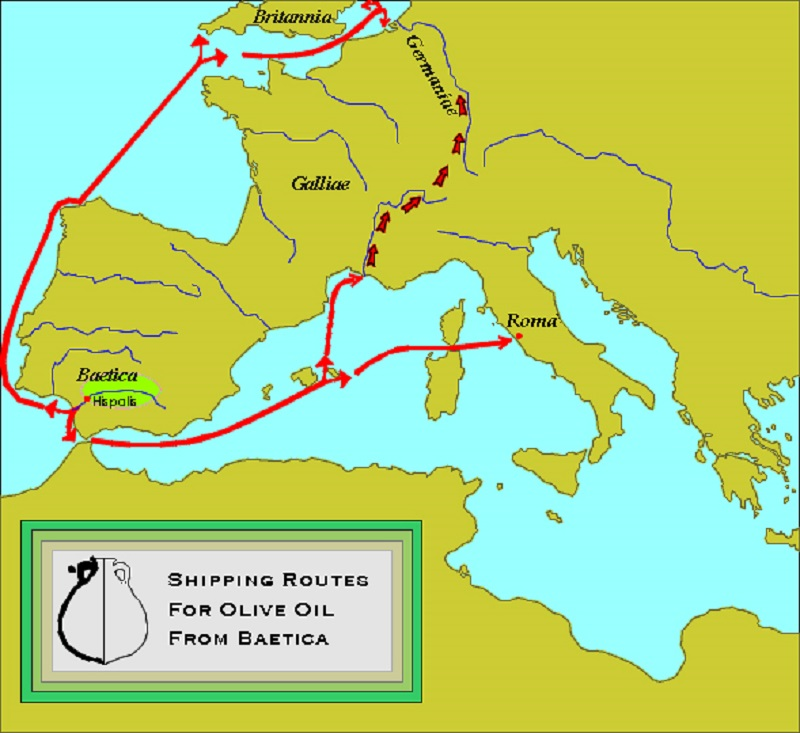Shipping Routes - Baetica Olive Oil