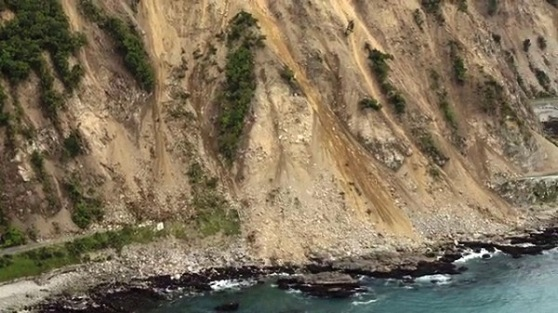 Land-slip Kaikoura - Ref NZ Herald