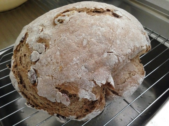 Spelt Round Loaf cooked in barbeque