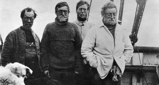 Ernes Shackleton and crew