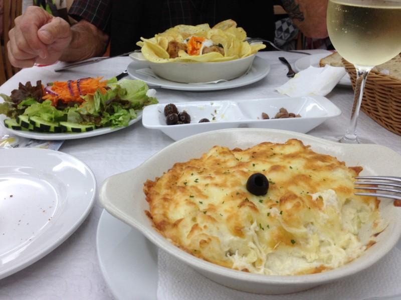 Portugal Caldas da Reihna - bacalau lunch