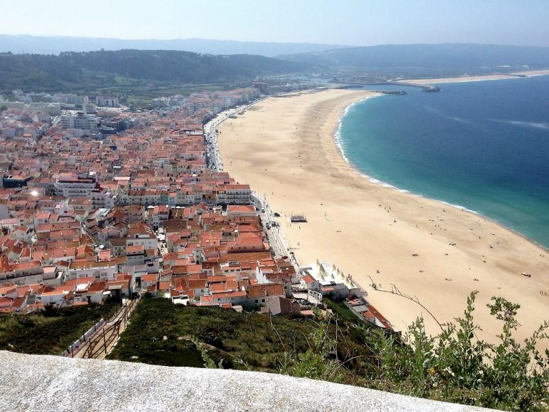 Portugal Nazaré coastline