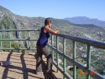 Maroc Chefchaouen - upper walk