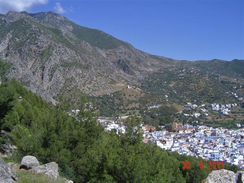 Maroc Chefchaouen - upper walk view