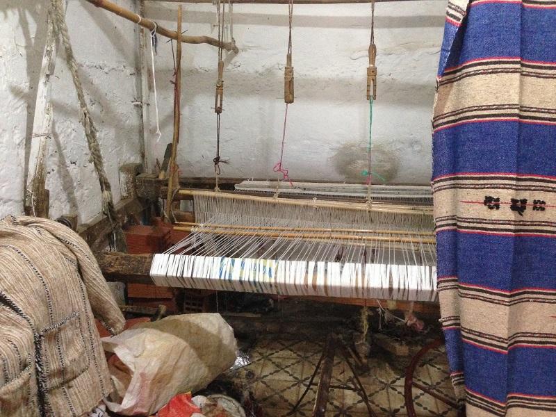 Maroc Ouezzane - carpet loom