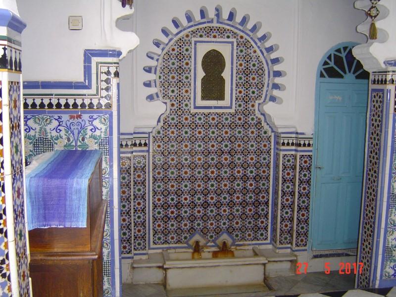 Maroc Tetouan - old ceramic tile work