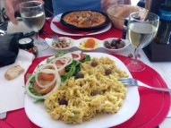 Portugal Lagos - bacalau a bras, bean stew