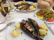 Portugal Lisboa Belem - charcoal sardines
