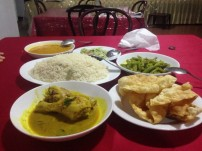 Curry dinner - Sri Lanka