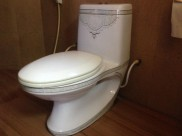 Great bathroom fixture (Spanish)