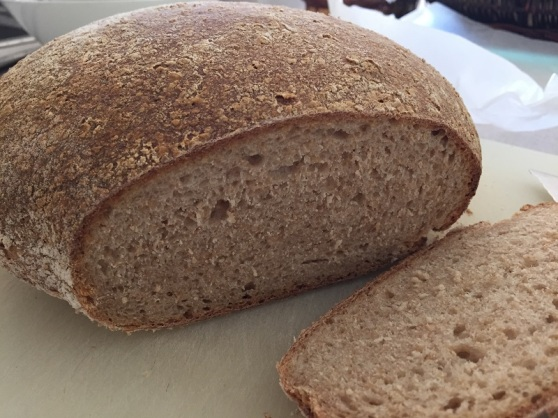 Fresh home-made wholemeal sourdough