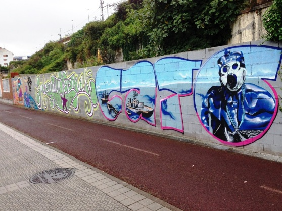 Spain Bilbao graffiti art - Zamoa Productions