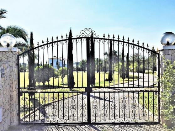 Wrought Iron - estate entrance